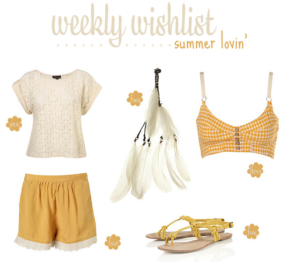 weekly wishlist