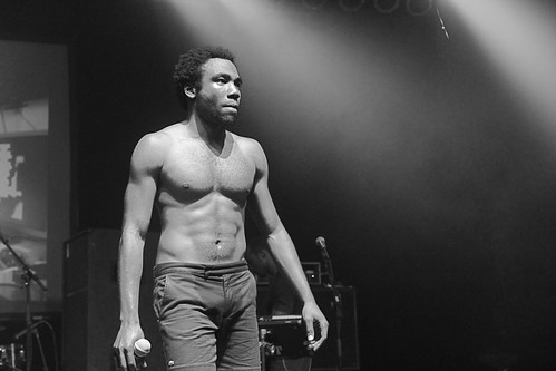 Shirtless Donald Glover