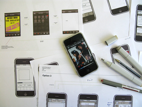 Designing the iPhone app, August 2008