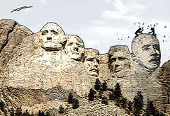 OBAMA Monte Rushmore (Xoan Baltar) Tags: usa illustration humor cartoon rushmore galicia chiste dibujo region obama caricatura ilustracin peridico ourense baltar xoan laregion