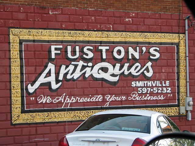 Fuston's Antique's Ad Mural