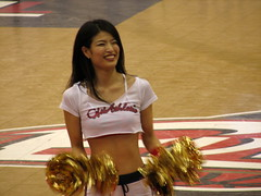 Osaka Evessa Cheerleader - Osaka, Japan 6 (glazaro) Tags: city basketball japan japanese asia cheerleaders dancers stadium arena dome  osaka sendai kansai kadoma namihaya bjleague evessa 89ers