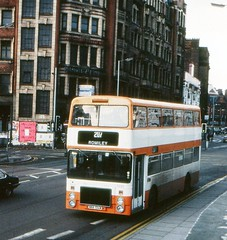 Ailsa in Manchester (georgeupstairs) Tags: bus manchester 1982 ailsa 1980 doubledecker volve gmpte b55 northerncounties greatermanchesterpte