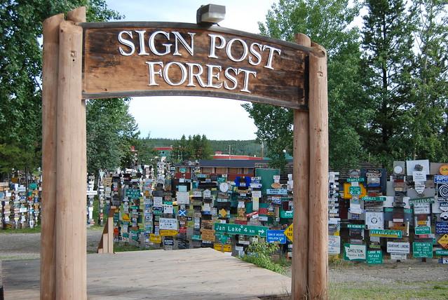 Watson Lake Yukon Signpost Forest