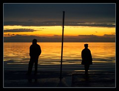 lonely people (maios) Tags: travel sky people cloud men water greek photo europa europe flickr mediterranean tramonto photographer hellas greece macedonia thessaloniki lonely fotografia salonica manikis maios iosif  heliography                iosifmanikis