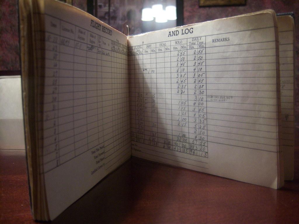 WWII Flight Log Book