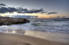 making waves in crete: 31/365 (helen sotiriadis) Tags: sunset sea sky reflection beach canon island waves creta greece crete canon350d 365 canonrebelxt hdr chania   canonefs1022mmf3545usm photomatix      toomanytribbles