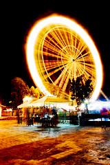 Ring of Fire (NyengNyong) Tags: park wheel night fire photography long exposure shot kingdom ferris ring ek pinoy enchanted