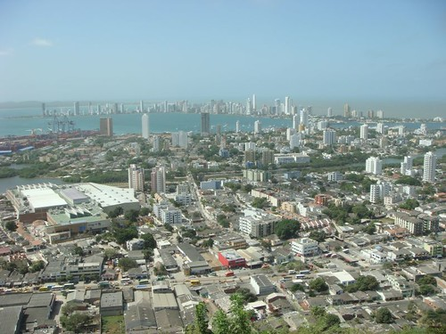 Cartagena from Convento de la Popa.