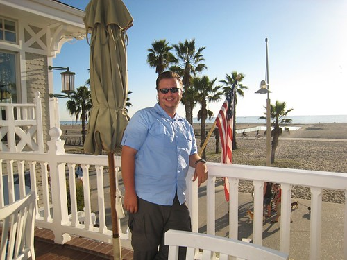 Me on beautiful winter's day at Shutters, Santa Monica