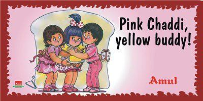 Amul Pink Chaddi Campaign
