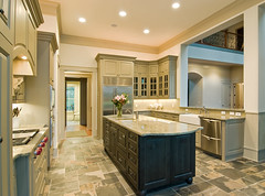 large extravagant kitchen (Remodeleze) Tags: wood light house detail green classic home kitchen stone comfortable architecture tile real island design arch estate realestate cabinet steel interior traditional unitedstatesofamerica cook indoor nobody architectural stove drawer granite inside slate elegant remodel custom stool expensive decor range decorate luxury appliance opulent stainless mortgage tuscan luxurious armoire extravagant oct32007 kitchendesigncenter