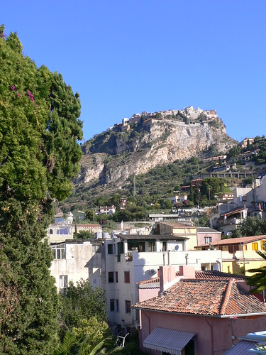 Castelmola seen from Taormina