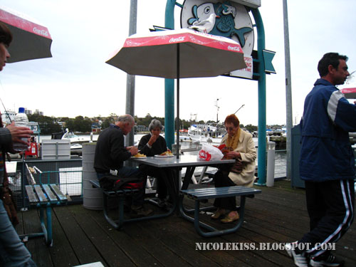 outdoor dining at fish market