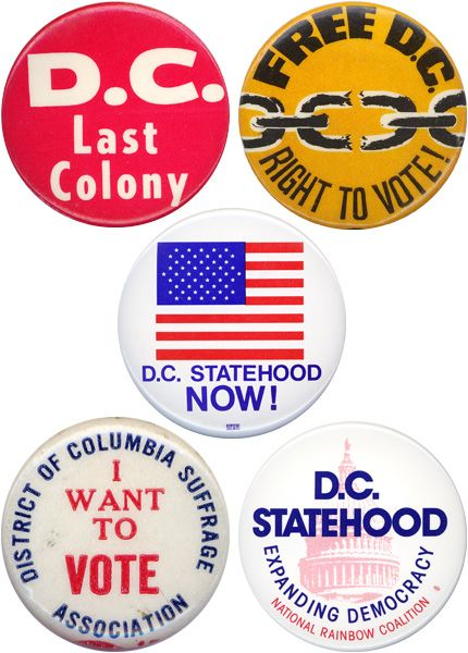 D.C. Voting Rights Buttons