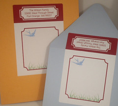Bird Shipping Labels full fronts (Whisker Graphics) Tags: blue bird label shipping mailing