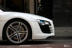 White Audi R8 (Bart Willemstein) Tags: auto white detail cars car amsterdam pc nikon d70 side d70s bart automotive pch autos nikkor rim audi v10 r8 straat hooftstraat hooft headligth autogespot merkesteijn