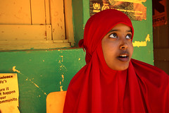 Nimo again (LindsayStark) Tags: africa travel red portrait people woman women war refugee muslim religion hijab conflict somali ethiopia humanrights humanitarian somalia displaced refugeecamp humanitarianaid emergencyrelief postconflict waraffected conflictaffected jijiga colorphotoaward