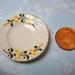 Dollhouse Miniature - Ivory Yellow Flowers Ceramic Plates (Set of 4) - SUPPLIES