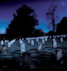 Undulations in the (moon)light (0 W8ing) Tags: cemetery confederate confederatecemetery history historic historicoakwoodcemetery oakwood verticalstitch adobephotoshopcs4 nikond90 nikon18mm55mmkitlens 0w8ing landscape