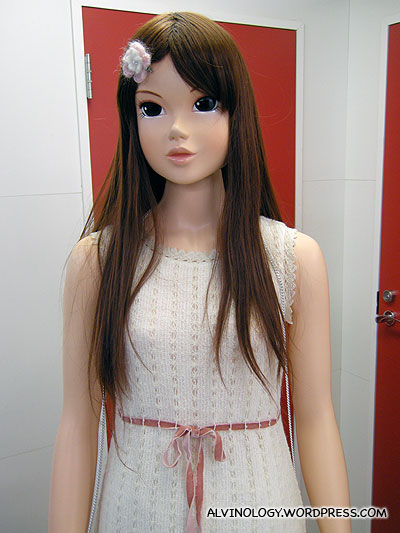 Freaky life-size doll