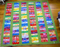 front (Handpicked) Tags: green quilt bright quilting patchwork kaffefassett jellyroll contempary stackedcoins