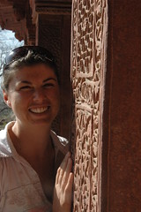 Lorna at The Palace at Fatehpur Sikri