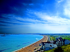 Weymouth Bay From Bowleaze (Alex Healey) Tags: sea summer beach clouds bay sand scenic coastal dorset weymouth jurassiccoast theworldwelivein supershot scenicwater bowleaze platinumheartaward flickrestrellas britishseascapes qualitysurroundings waterenvirons alexhealey beachesallovertheworld todaysbest