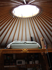 yurt loft under dome (coyurtco) Tags: green yurt sustainable yurts enviornmentallyfriendly simplelifestyle coloradoyurt
