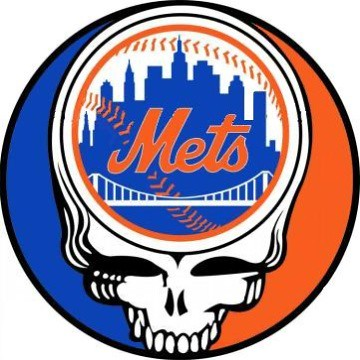 Grateful Dead Steal Your Face New York Mets - version 1 (original colors)