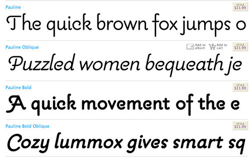 Examples of the Pauline Font