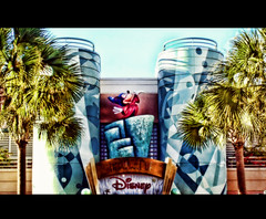 The Magic of Disney Animation (Samantha Decker) Tags: digital photoshop geotagged orlando florida wed ps resort disneyworld adobe palmtree fantasia mickeymouse handheld pointandshoot fl orangec