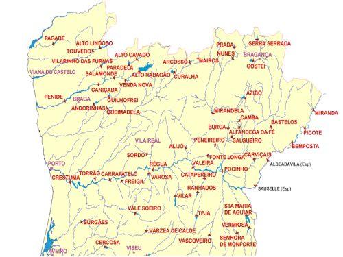 número de barragens a norte