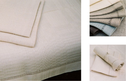 Hand-woven tablecloths, napkins, table mats and table runners from KOTHEA