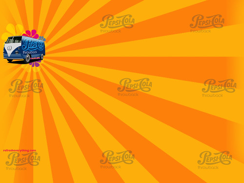 Pepsi Throwback - Hippie Van Background for Twitter by pepsithrowback.