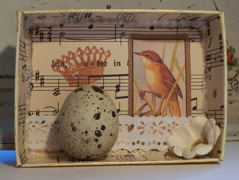 Small Egg Shadow Box