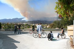 Jesusita Fire Santa Barbara From City2 College