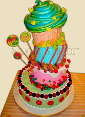 SWEET SUGAR - Cupcake Love Cake!!! - BOLO (SWEET SUGAR By Michelle Lanza) Tags: cake sweet michelle sugar cupcake bolo diferente oficial atelier acar lanza personalizado decorado guloseimas