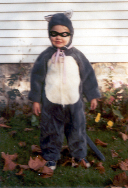 Sister - Racoon Costume - Front (Click to enlarge)