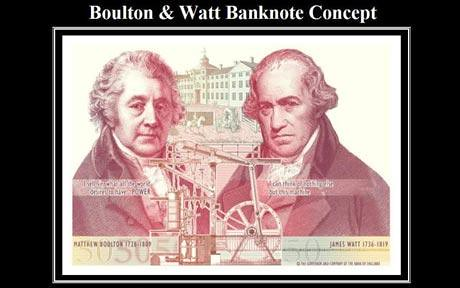 Bolton and Watt banknote design