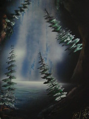 """Spray Paint """"CAVE SCENE"""" by Robin (victoriaislandgirl) Tags: ocean trees art water robin cool paint downtown bc waterfront harbour victoria spray inner cave masterpiece causeway spraypaintmanca"""