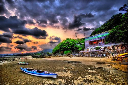 浜辺の茶屋HDR