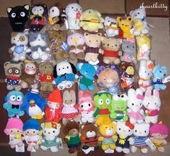 sanrio 100 plush collection {explored} (iheartkitty) Tags: cute japan japanese 2000 hellokitty plush sanrio mascot collection kawaii characters 100