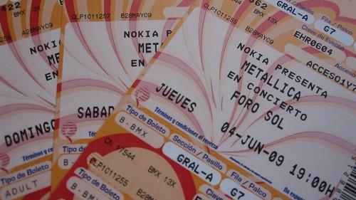 Boletos Metallica @ Foro Sol, México, D.F.
