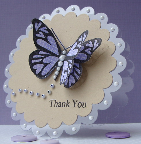 Butterfly Thank You on Acetate