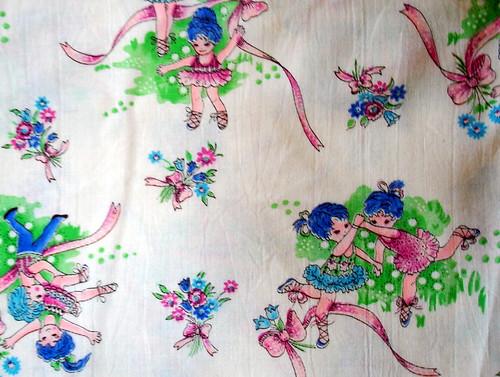 vintage ballerina fabric