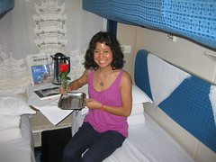 luxury train ride... (Tricia Wang ) Tags: china train bed soft ride shanghai 4 fast wuhan luxury bunk overnight triciawang jinge