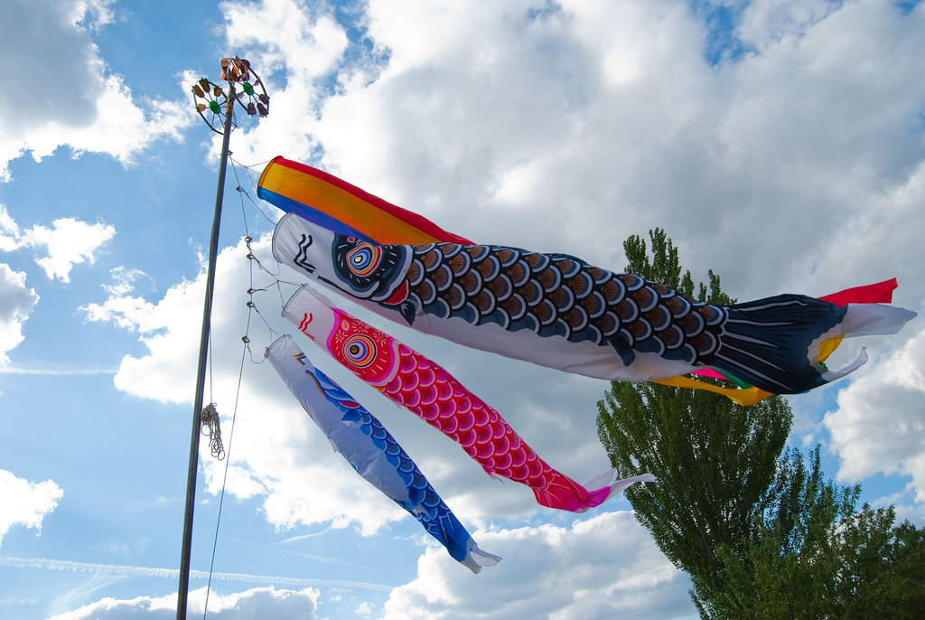 20090607-Koinobori in the sky in SPAIN!