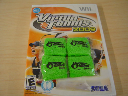 Virtua Tennis Wii and 4 finger bands