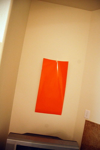 orange vinyl for wall